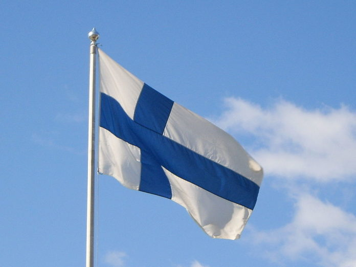the Finnish Flag. Photo credit: Wikipedia